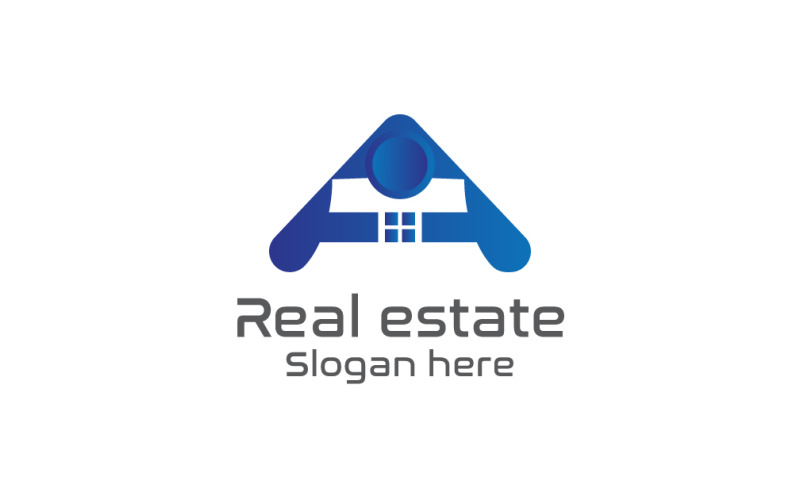 Письмо шаблон логотипа недвижимости