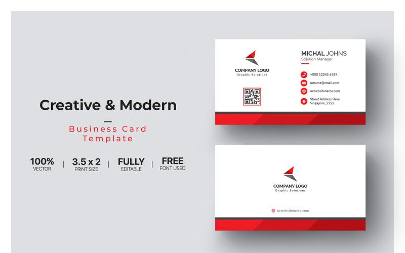 Визитные карточки - шаблон фирменного стиля