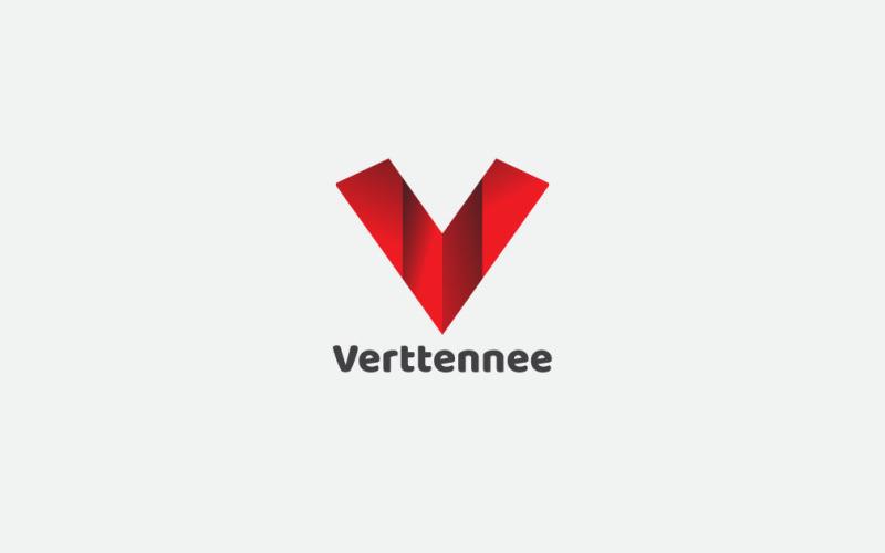 Буква V шаблон логотипа