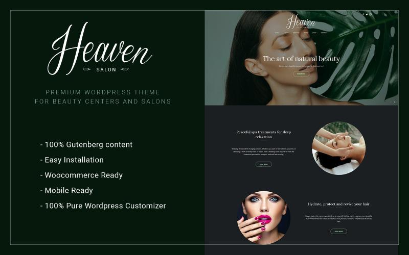 Heaven Salon - тема WordPress для центра красоты