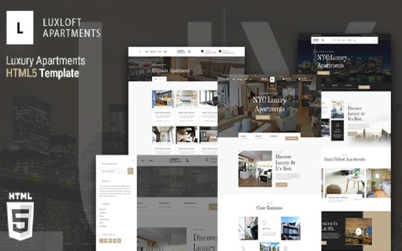 Luxloft - Modern Apartment HTML 5 Website Template