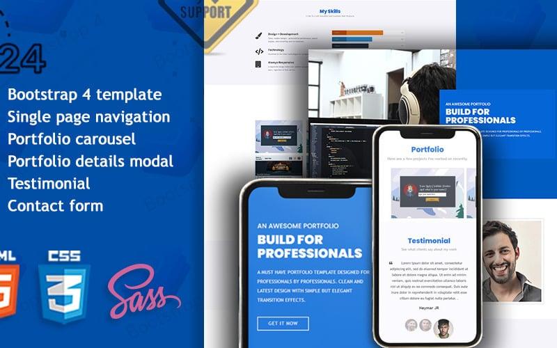Mr. Freelancer Resume/Portfolio Landing Page Template