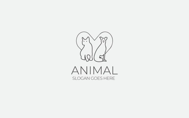 Шаблон логотипа животных