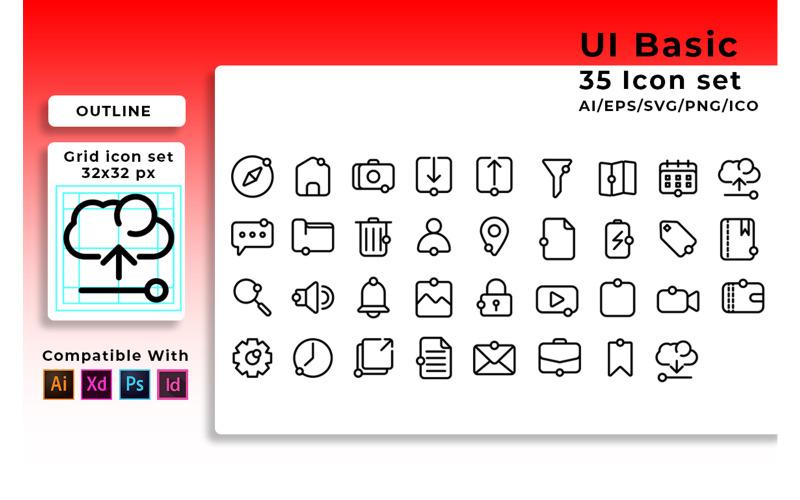 Значок набора пользовательского интерфейса