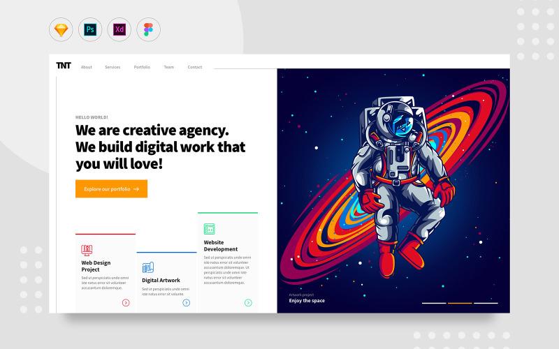 Daily.V24 - Элементы пользовательского интерфейса веб-сайта Creative Digital Agency