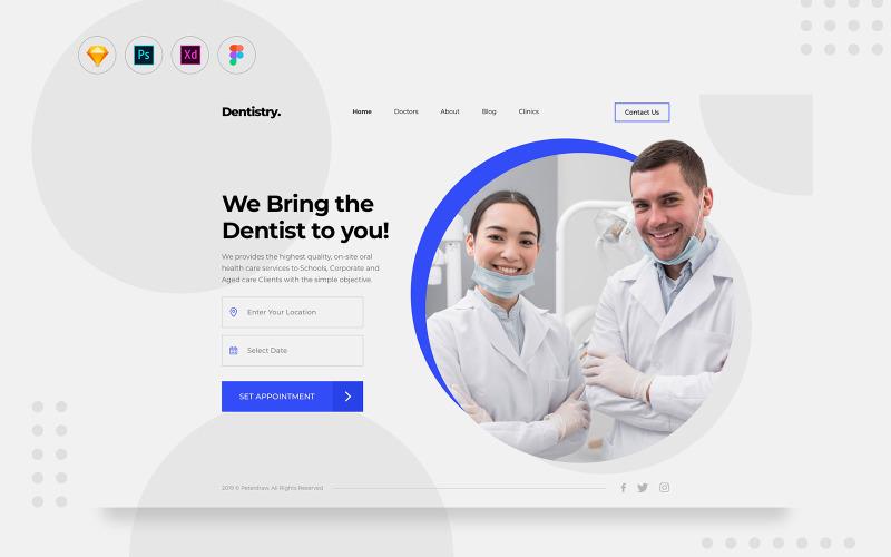 Элементы пользовательского интерфейса для ежедневного приема на прием к стоматологу