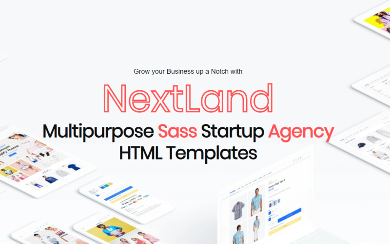 NextLand - Multipurpose Sass Startup Agency Html Website Template
