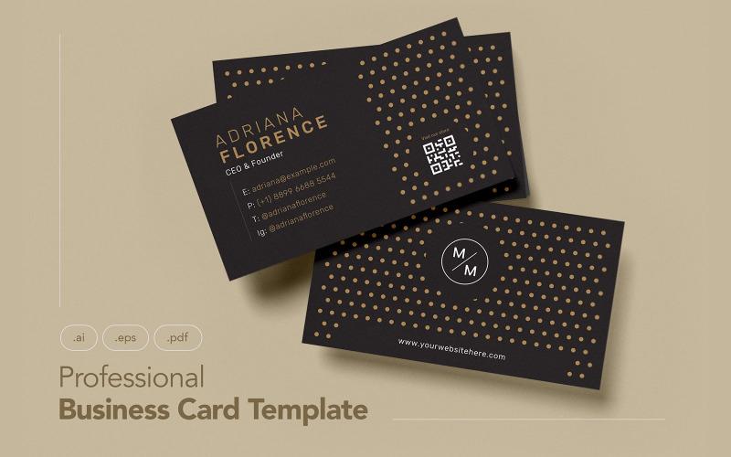 Профессиональная и минималистичная визитка V.12 - Шаблон фирменного стиля