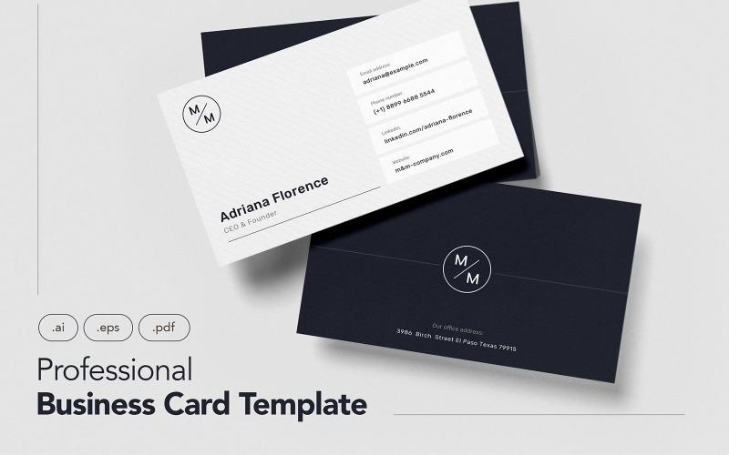 Профессиональная и минималистичная визитка V.7 - шаблон фирменного стиля