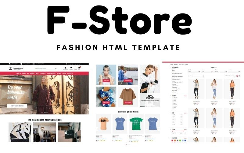 F-Store - Fashion E-commerce Website Template