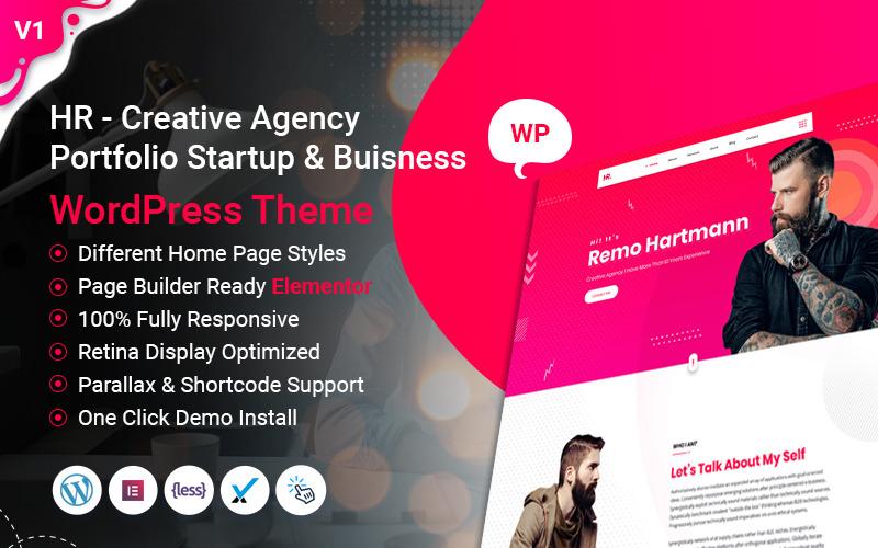 HR - WordPress тема для стартапов и бизнеса портфолио креативного агентства