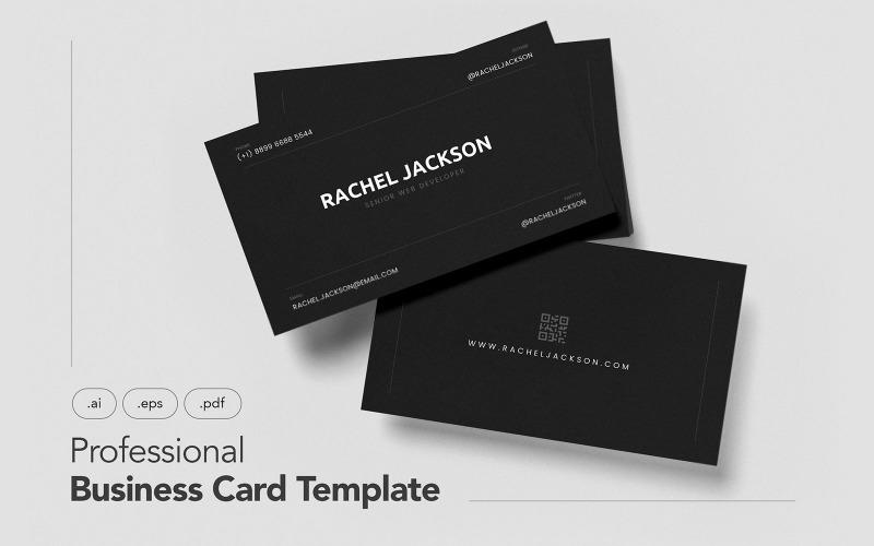 Профессиональная и минималистичная визитка V.29 - шаблон фирменного стиля