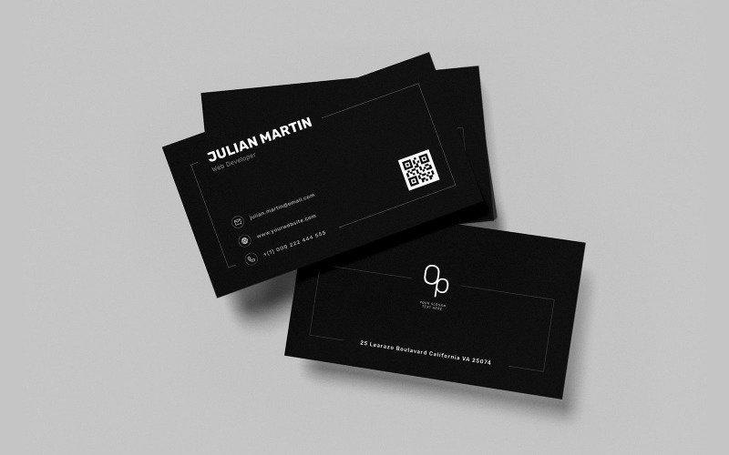Профессиональная визитка v56 - Шаблон фирменного стиля