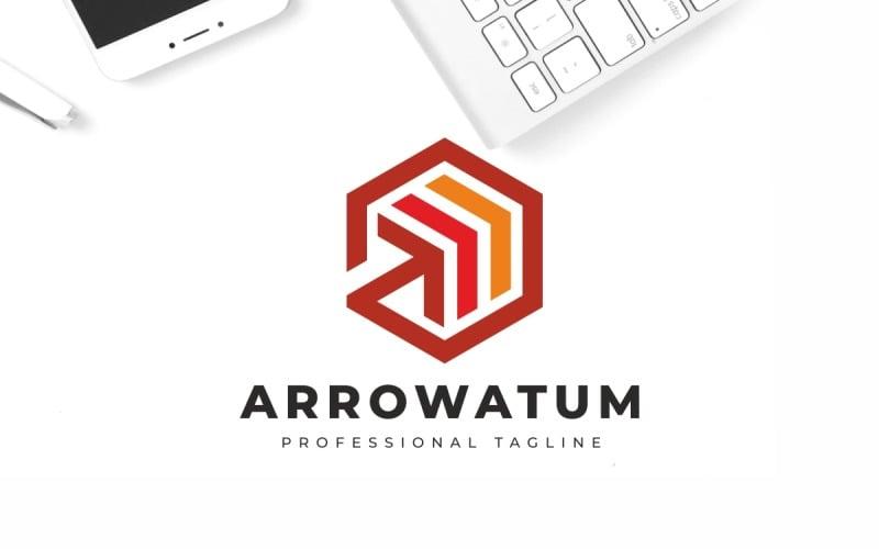 Шаблон логотипа стрелки