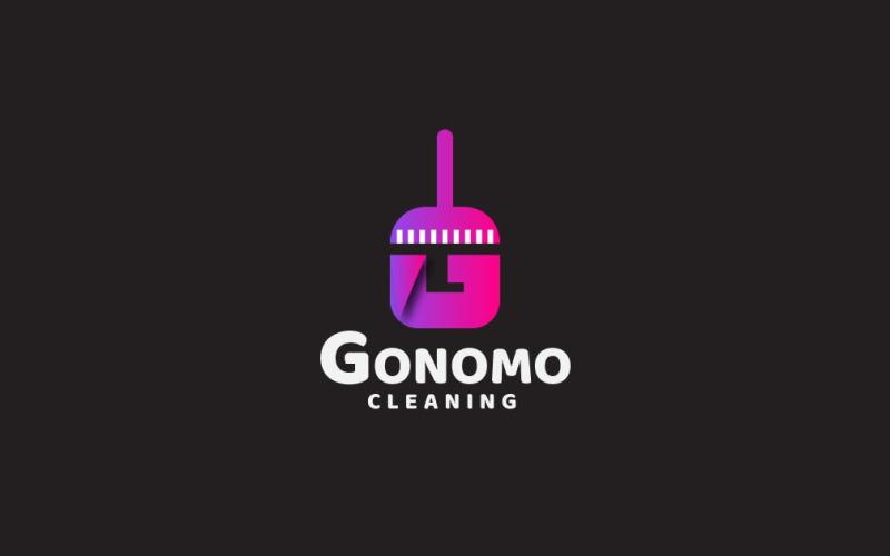 Modello di logo di pulizia