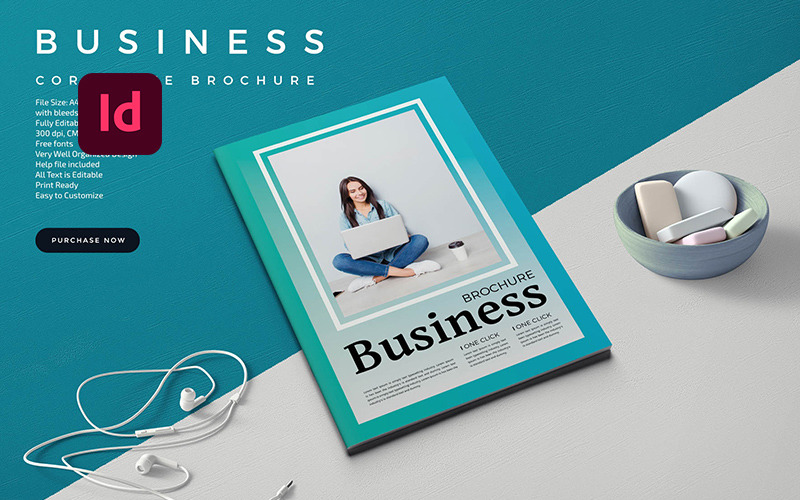 Business Brochure 28 Pages Magazine Template