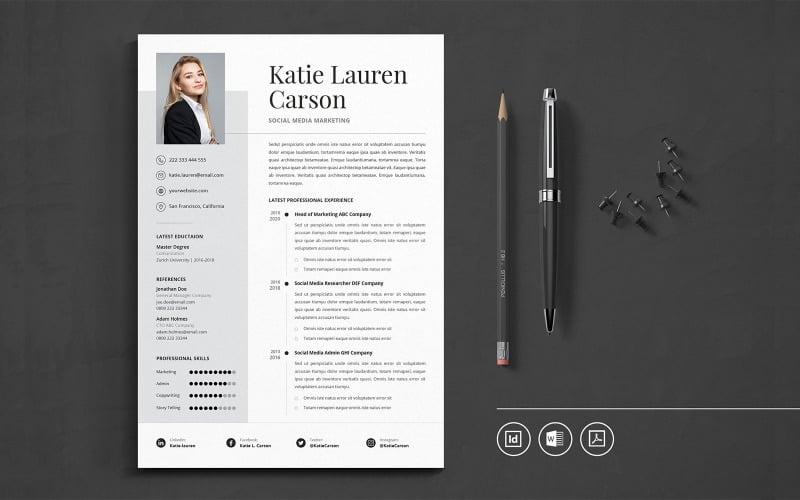 Professional CV Indesign Vol.16 Resume Template