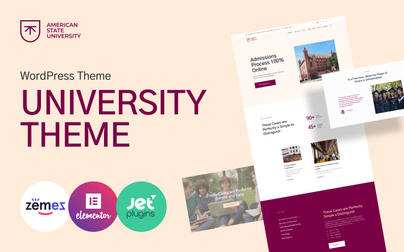 American State University - WordPress-Theme der Universität