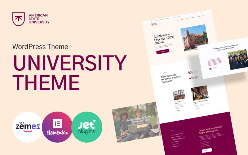 Amerikai Állami Egyetem - Egyetemi WordPress téma