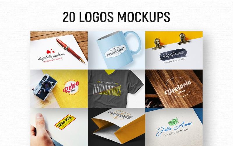 20 Logos product mockup