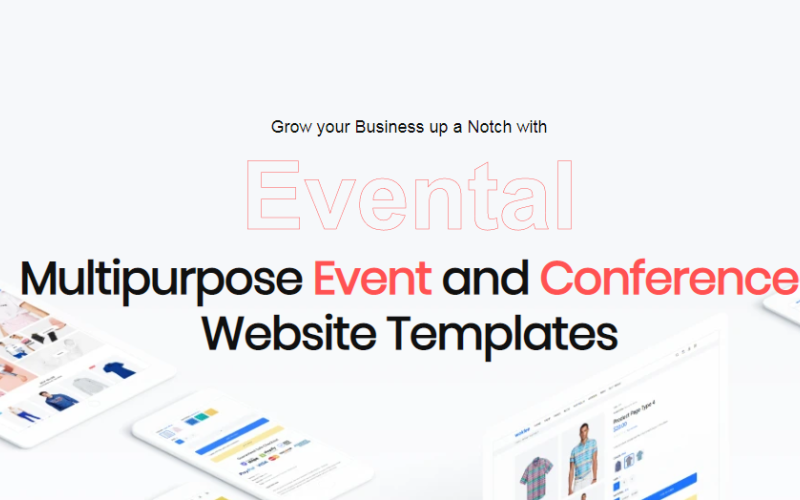 Evental - Шаблон цільової сторінки веб-сайту про події та конференції