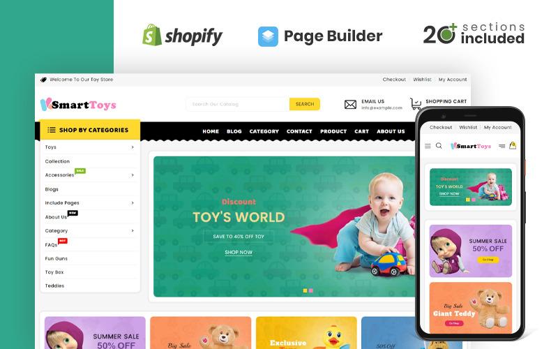 Магазин умных игрушек Shopify Тема