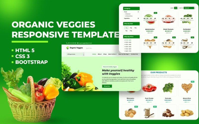 Organic Grocery Store Website Template