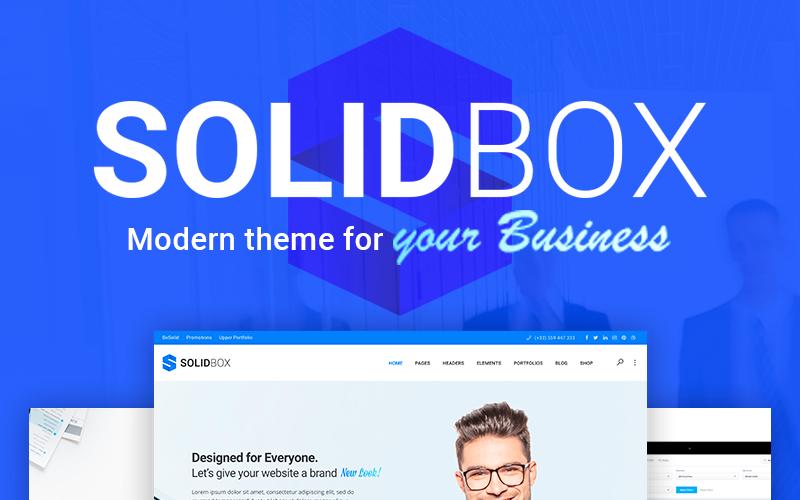SolidBox - Modern Business WordPress Theme