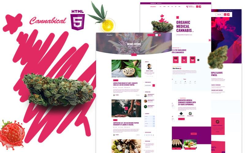 Cannabical    Recreational Cannabis HTML5 Website Template