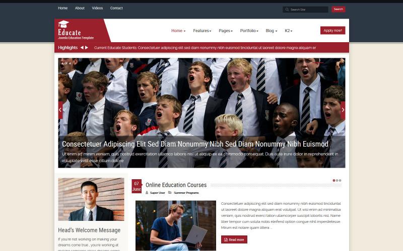 Educate Education Joomla Template