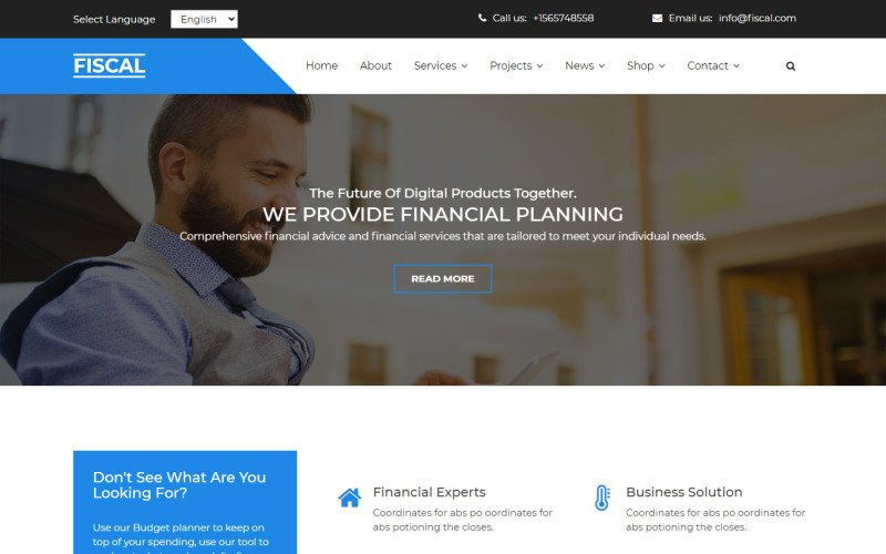 Fiscal Multipurpose Business Agency Clean HTML5 Website Template