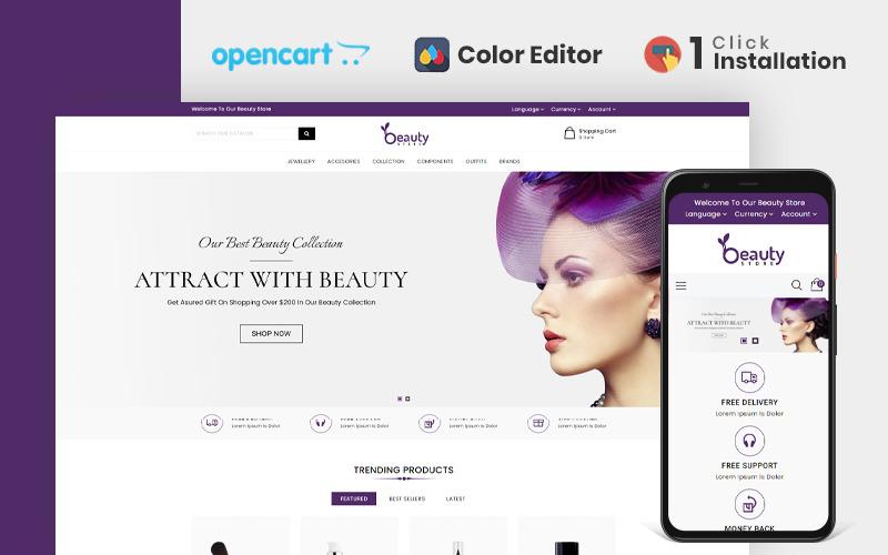 Beauty Store responsieve OpenCart-sjabloon