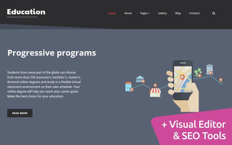 Education - Online Courses Moto CMS 3 Template
