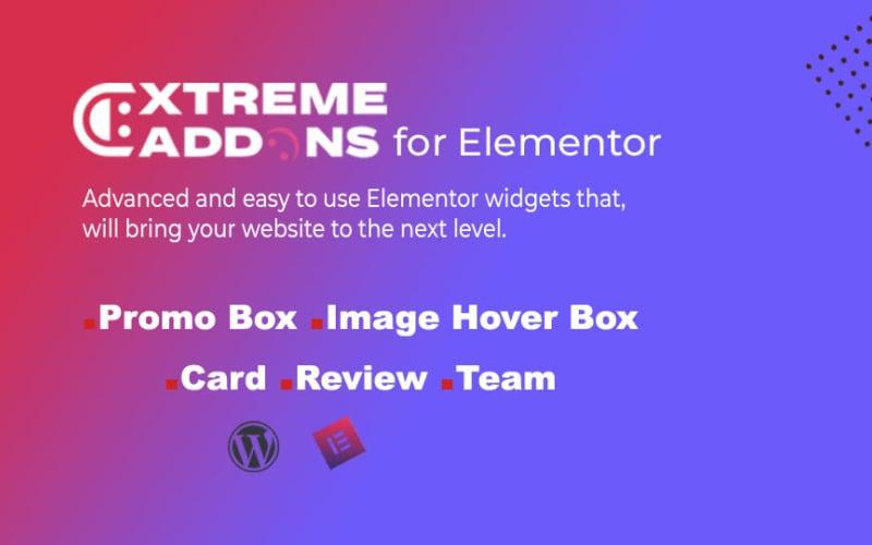 适用于Elementor简单小部件WordPress插件的Extreme Addons