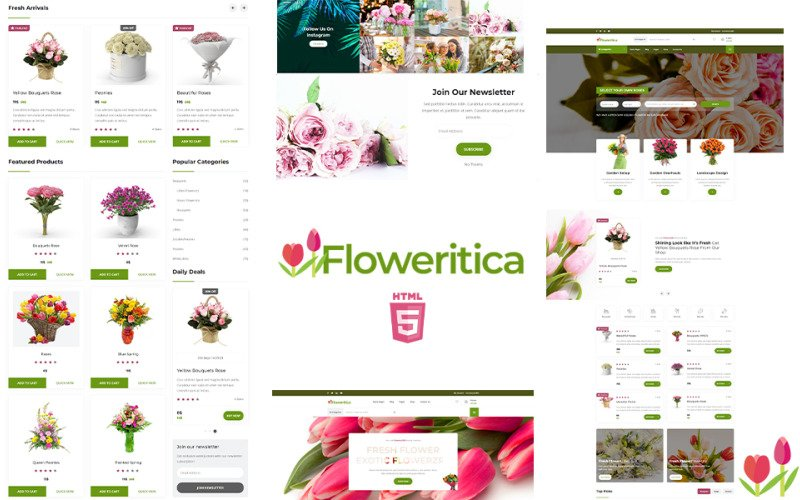 Floristica   Flowers and Roses Shop Website Template