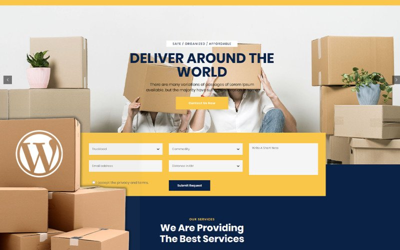 Nescobee - Movers WordPress Theme