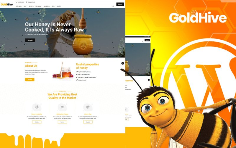 Goldhive    Honey Farm and Production WordPress Theme