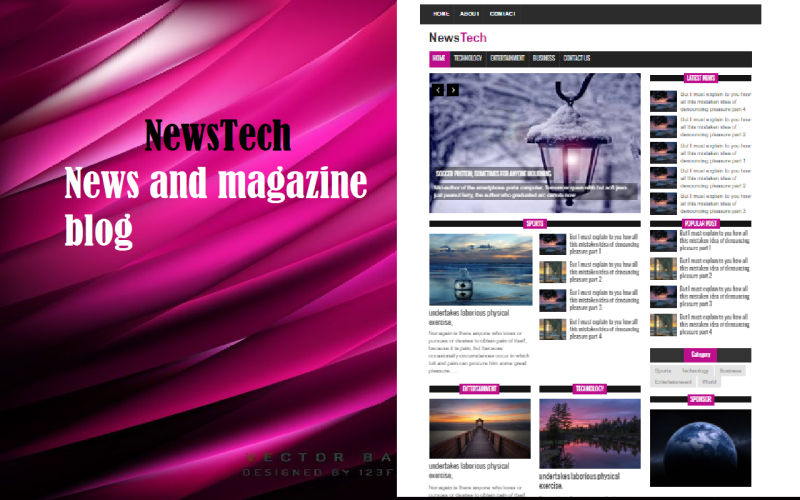NewsTech - News and blogger Magazine Template