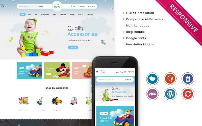 Toystrailer - Het WooCommerce-thema van de Mega Kids Fashion Store
