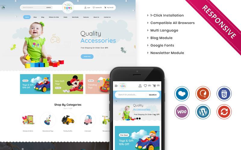 Toystrailer - Tema do WooCommerce da Mega Kids Fashion Store