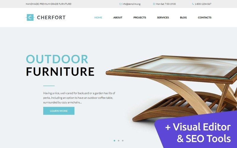 Cherfort - Furniture Company Moto CMS 3 Template