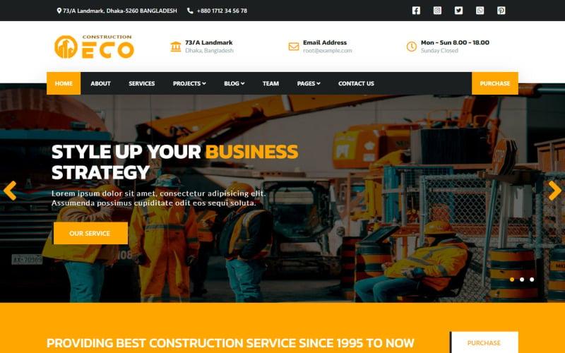 Eco Multipurpose Corporate Clean  Responsive HTML5 Website Template