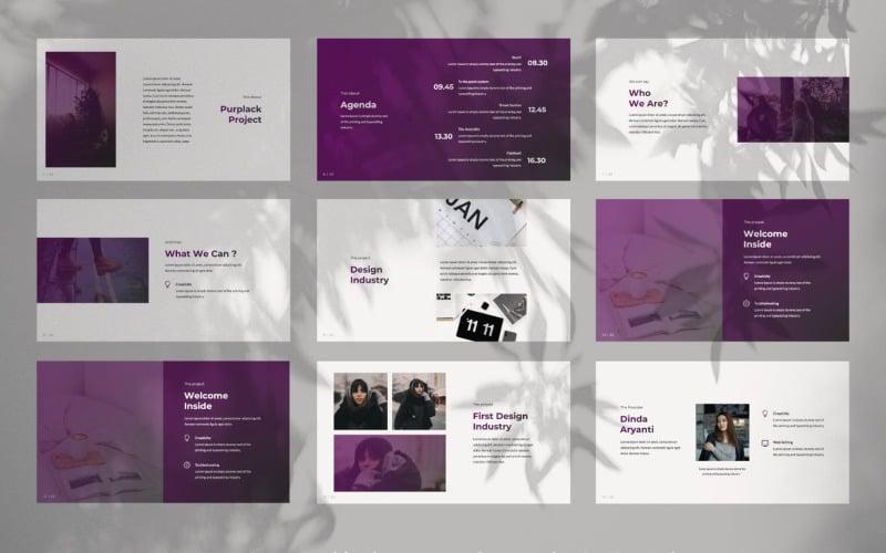 Kreative lila Business-Präsentation PowerPoint-Vorlage