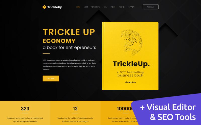 TrickleUp - elektronická kniha Moto CMS 3 šablona