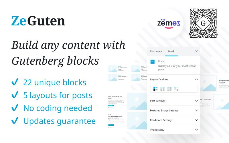 Plugin ZeGuten Gutenberg per creare un sito Web competitivo