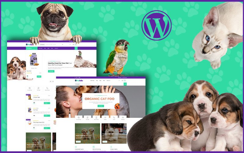 Тема WordPress для домашних животных Petitudio