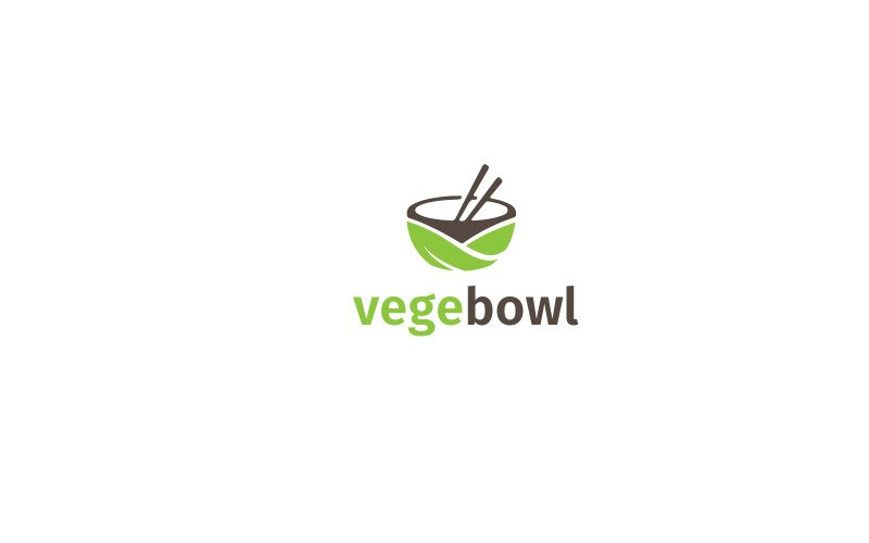 Vege Bowl Logo Template