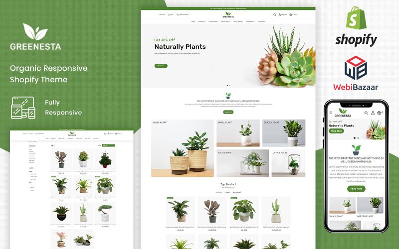 Greenesta Organik - Yiyecek ve Bakkal Shopify Teması