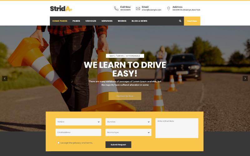 Strida - Driving School WordPress Theme