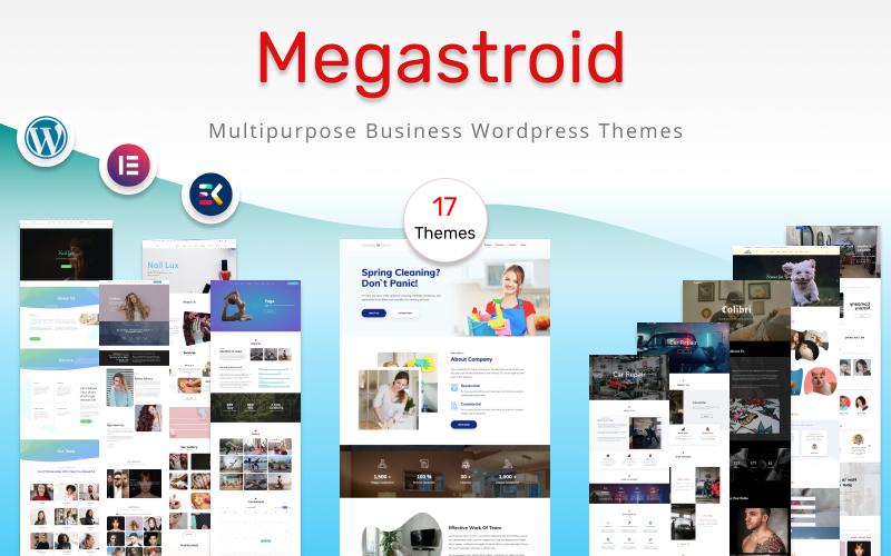 MegaStroid - Modèles d'ensemble polyvalents pour votre thème WordPress d'entreprise